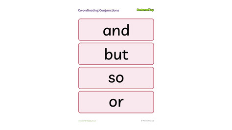 Co-ordinating Conjunctions Poster