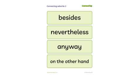 Connecting Adverbs Poster 2