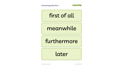 Connecting Adverbs Poster 5