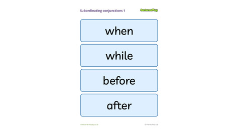 Subordinating Conjunctions Poster 1